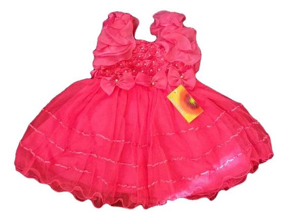 Vestido Infantil Fru-fru Pink