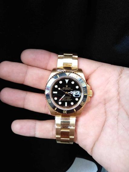 Relógio Submariner Gold Preto Cerâmica!