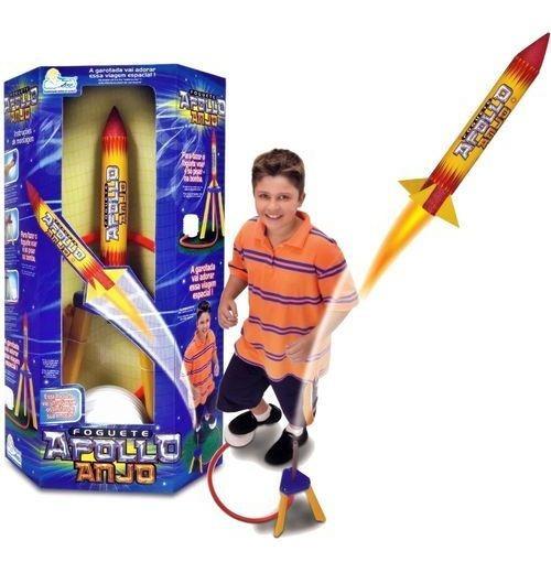 Brinquedo Foguete Apollo Anjo Voa De Verdade Com Amigos