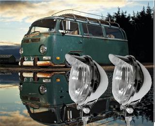 Farol Milha Com Aba 92mm Para Volkswagen Kombi - Par/ H3