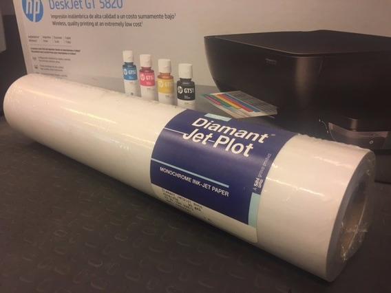 Rollo De Papel Para Plotter Impresora Vegetal Calco 61cm A1