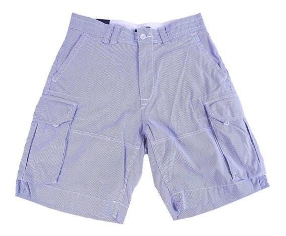Polo Ralph Lauren, Short Bermuda Hombre Azul Rayas Nuevo Orig. Con Etiqueta