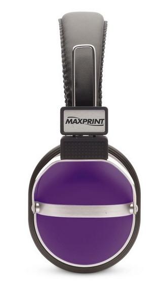 Fone De Ouvido P2 Gamer Violeta Colorido Com Fio