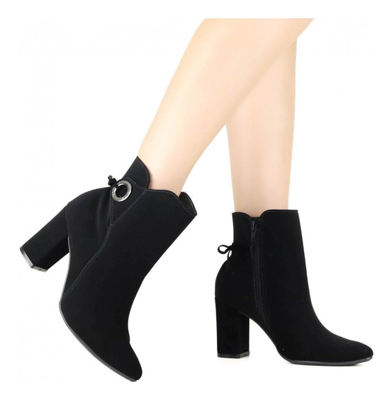 Bota Feminina Via Marte Ankle Boot 19-3202