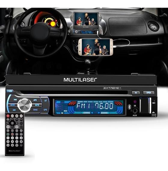 Dvd Player Retrátil Multilaser 7 Polegadas Bluetooth.