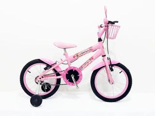 Bicicleta Infantil Aro 16 Mtb Feminina Cesta +c/ Brinde