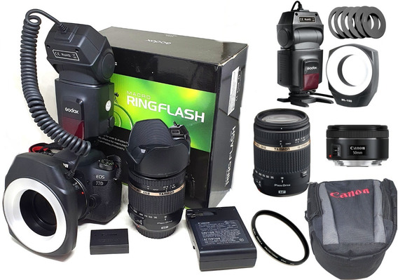 Canon Eos Rebel 77d Kit Professional + Tamron 18-270mm F/3.5