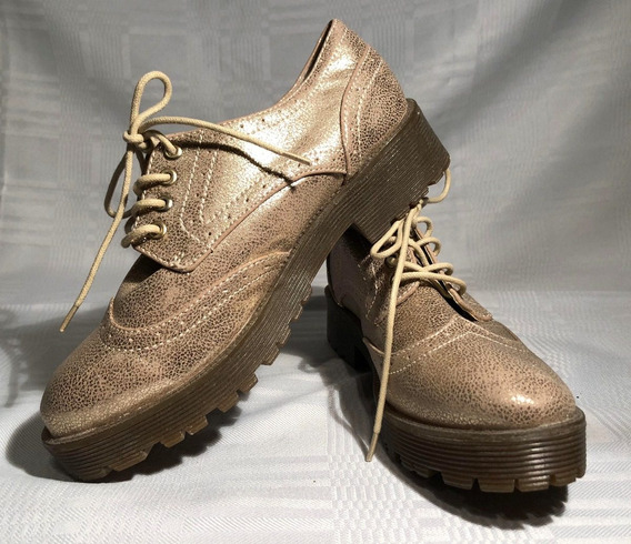 Zapatos De Plataforma Brillantes Eco Cuero