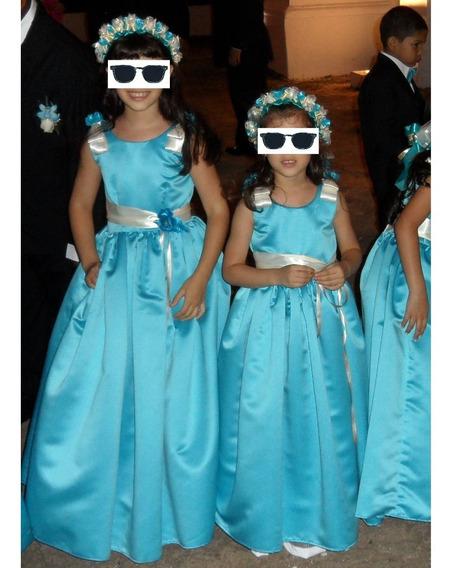 Vestidos De Raso De Niña Nena - Para 5 Y 8 Años Aprox.