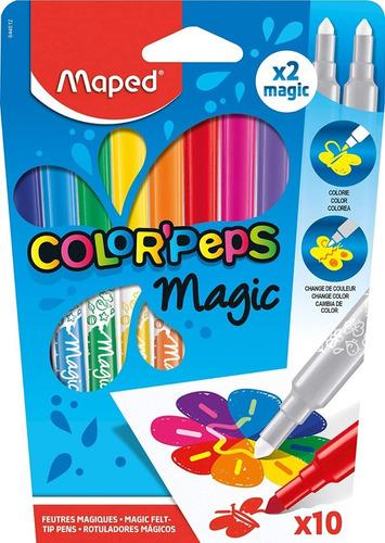 Marcadores Magicos Maped Magic X10 Cambian De Color Educando