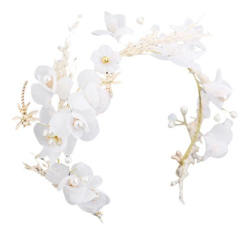 Tiara De Boda Flores Secas Gypsophila Tocado Cabeza De Señ Mercado Libre