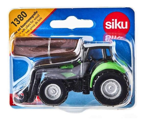Tractor Cargador Frontal Y Garra De Tronco- Siku Super 13