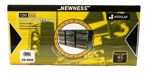Kit 3 Porta Cd Newness Suporte Para 45 Cd