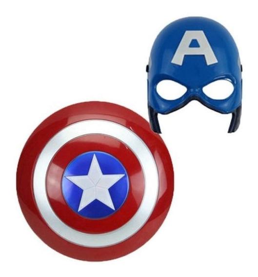 Mascara Y Escudo Capitán America Vengadores Niños