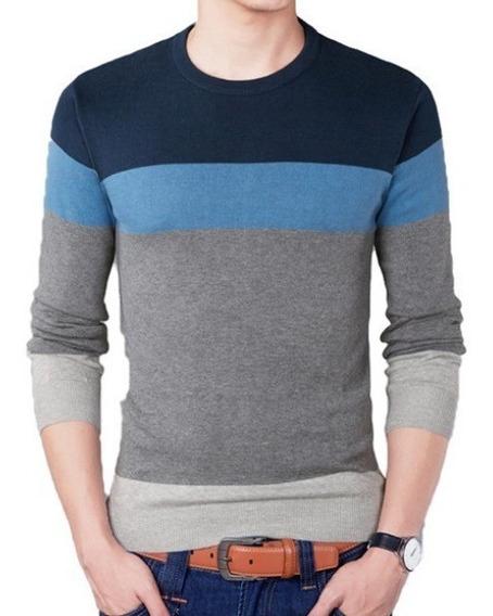 Camisa Blusa Preta Meia Estação Masculina Social Azul