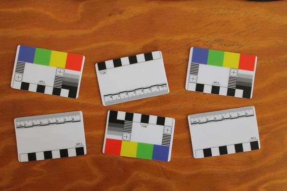 Kit 6 Escalas Fotográficas Pvc Acoplado Fosco Frente E Verso