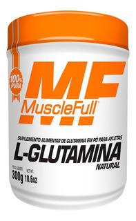L Glutamina - Pura - 300g - Muscle Full