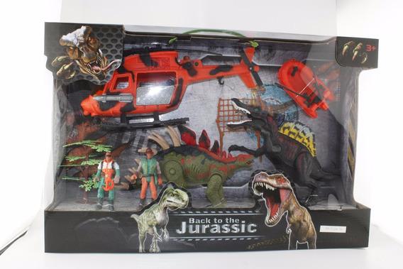 Dinosaurios 4 Figuras Play Set 2 Con Accesorios En Caja