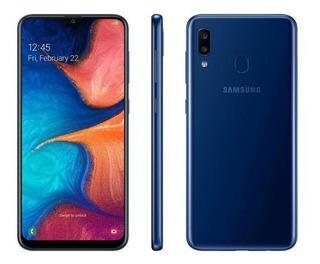Samsung Original Galaxy A20 32gb Azul 4g-3gb Ram Tela 6,4