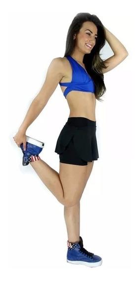 Kit 3 Short Saia Tapa Bumbum Feminino Fitness E Academia