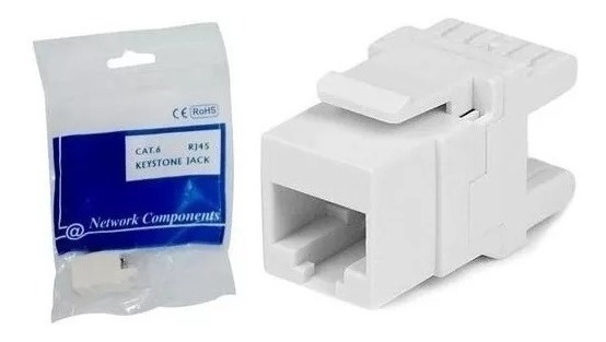 Conector Rj45 Cat6 Keystone // Kit Com 20 Unidades