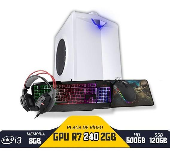 Pc Gamer Hector I3 Gpu R7 240 2gb 8gb Hd 500gb Ssd 120gb