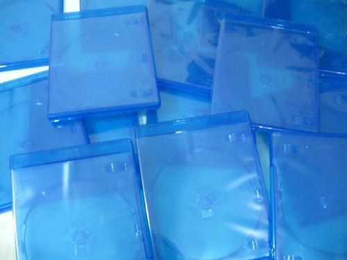 Caja Estuche Azul Para Disco Bluray Dvd O Cd De Musica