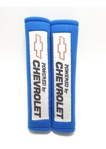 Imagen 1 de 5 de Almohadillas Cinturón Seguridad Powered By Chevrolet Azul