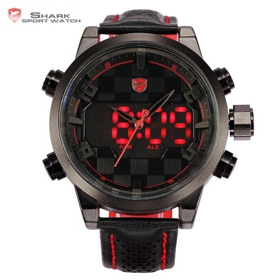 Relógio Masculino Shark Original Freestyle Parc 12x Vermelho