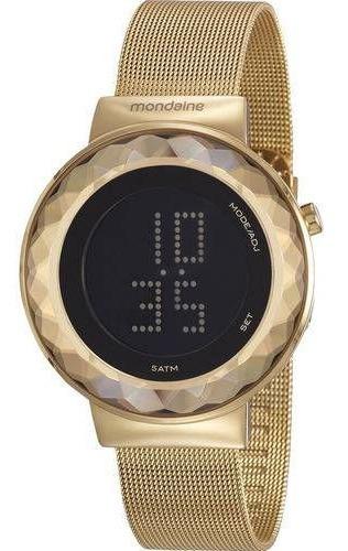 Relógio Mondaine Feminino Dourado Digital 32006lpmvde1