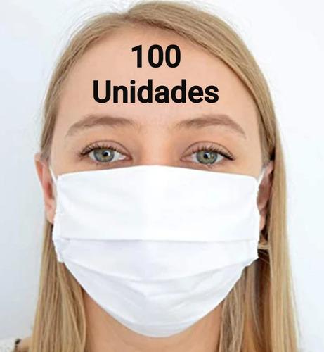 Mascara Descartável Clip Nasal Tnt 100 Unidades C/ Elástico,