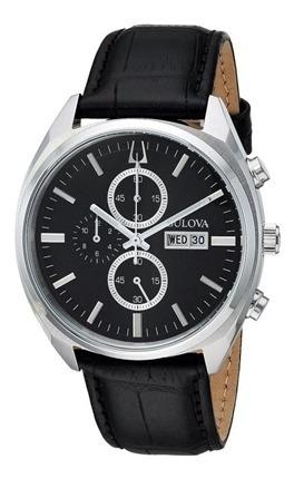 Relógio Masculino Bulova Couro 96c133