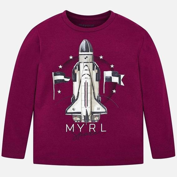 Camiseta Manga Larga Cohete Niño Mayoral