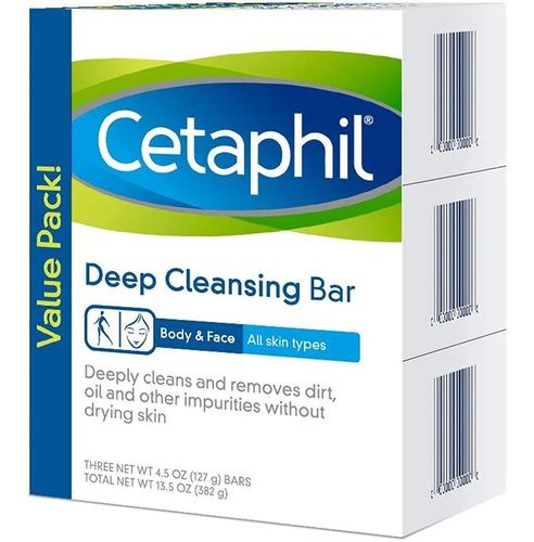 Cetaphil Jabon Barra X 3 Limpieza Profun - g a $196