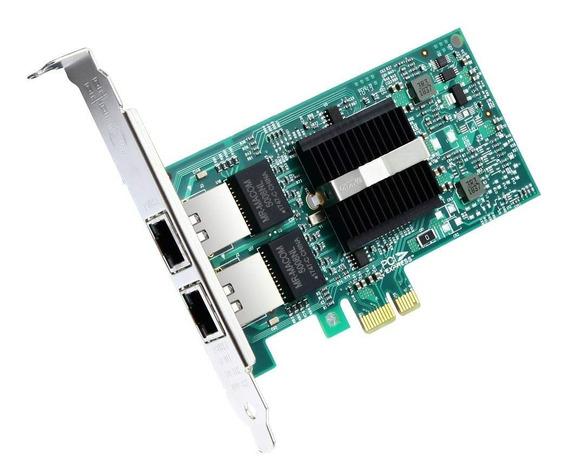 Placa De Rede Dual Giga 82576eb E1g42et Pci-e X1 1000