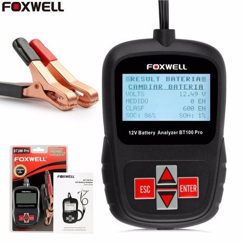 Testador Eletrônico Bateria Foxwell Bt100 12v Frete Grátis