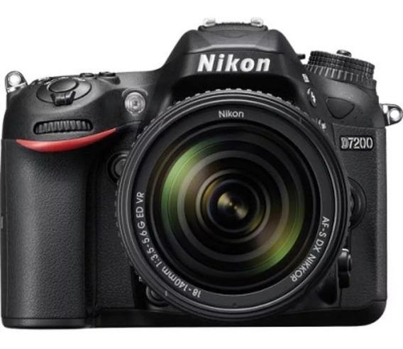 Câmera Nikon D7200 18-140mm