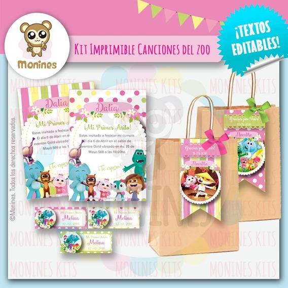 Canciones Del Zoo Kit Imprimible Para Niñas ¡texto Editable
