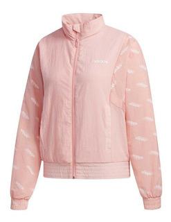 Jaqueta adidas Feminina Quebra Vento Impermeável Fm6200 Rosa