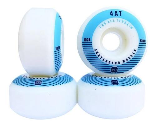 Imagem 1 de 2 de Roda Para Skate Importada Emex 53mm - Serie 4at Blue 102a