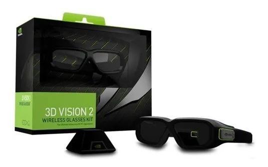 Kit Com ( 2 ) Óculos Sem Fio 3d Vision 2 - Nvidia - Glasses