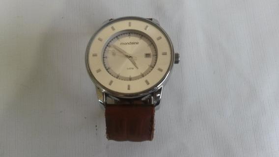 Relógio Mondaine 3atm Com Pulseira De Couro Mod: Bnh 1