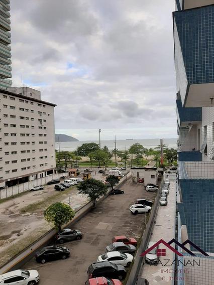 Apartamento 1 Dormitório - Sacada Vista Mar - Gonzaga - Santos - 729