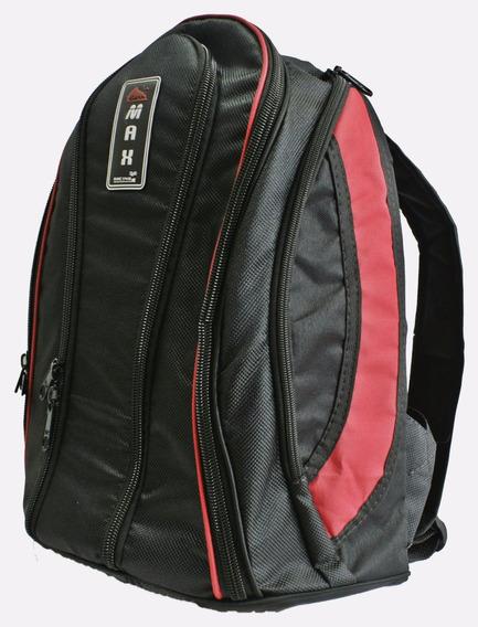 Mochila Bolsa Vermelha Impermeável Reforçada Notebook Capa