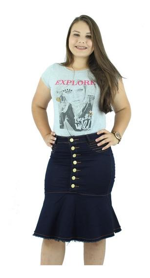 Combo Sensacional! 2 Saias Jeans Com Lycra