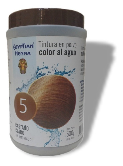 Tintura En Polvo Egyptian Henna Color Al Agua Pote 500g