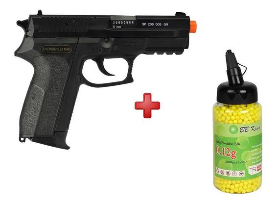 Pistola Airsoft Spring Sig Sauer Sp2022 + Bbs Bb King 0.12g