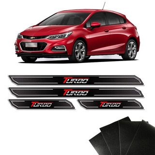 Kit Soleira Diamante Cruze Turbo Com Protetor De Porta Gm