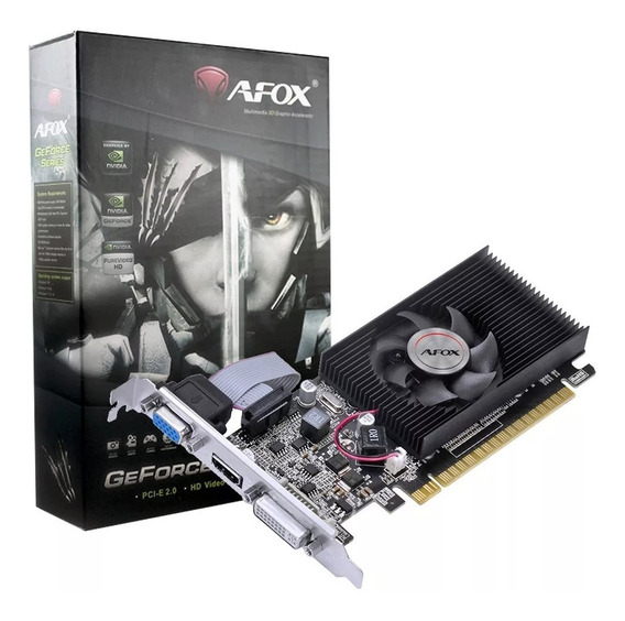 Placa De Vídeo Geforce Afox G210 1gb Low Profile Ddr3 Hdmi