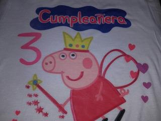 Remera Peppa Pig Modal Sublimadas